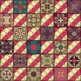 Teste padrão sem emenda com as telhas portuguesas no estilo de talavera Azulejo, marroquino, ornamento mexicanos Fotografia de Stock