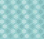 Teste padrão sem emenda com azul e flocos de neve do White Christmas Imagens de Stock Royalty Free