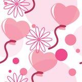 Teste padrão sem emenda com balões heart-shaped Fotografia de Stock Royalty Free