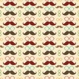 Teste padrão sem emenda com bigode Foto de Stock Royalty Free