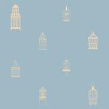 Teste padrão sem emenda com birdcages do vintage Imagem de Stock Royalty Free
