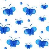Teste padrão sem emenda com borboleta Imagem de Stock Royalty Free
