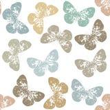 Teste padrão sem emenda com borboleta retro e fundo branco Foto de Stock