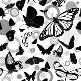 Teste padrão sem emenda com borboletas Imagens de Stock