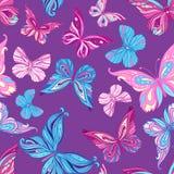 Teste padrão sem emenda com borboletas Foto de Stock Royalty Free
