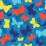 Teste padrão sem emenda com borboletas Fotos de Stock Royalty Free