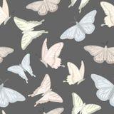 Teste padrão sem emenda com borboletas ilustração royalty free