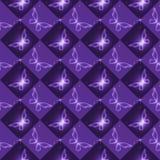 Teste padrão sem emenda com borboletas brilhantes Imagem de Stock Royalty Free