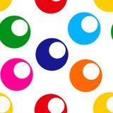 Teste padrão sem emenda com círculo colorido brilhante Ilustração do vetor ilustração do vetor