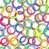 Teste padrão sem emenda com círculos Fotografia de Stock Royalty Free