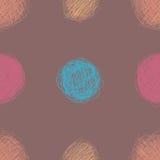 Teste padrão sem emenda com círculos da garatuja ilustração stock