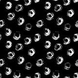 Teste padrão sem emenda com círculos tirados mão do grunge Ilustração da tinta Imagem de Stock