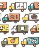 Teste padrão sem emenda com caminhões Imagem de Stock