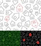 Teste padrão sem emenda com casas Foto de Stock Royalty Free