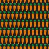 Teste padrão sem emenda com cenouras Fotografia de Stock Royalty Free