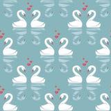 Teste padrão sem emenda com cisnes ilustração royalty free