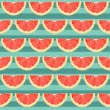 Teste padrão sem emenda com citrino cortado ilustração do vetor