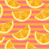 Teste padrão sem emenda com citrino cortado ilustração royalty free