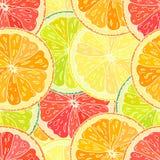 Teste padrão sem emenda com citrino cortado Imagem de Stock