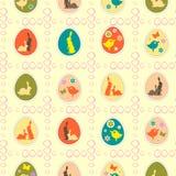 Teste padrão sem emenda com coelhos de Easter Fotos de Stock Royalty Free