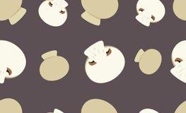 Teste padrão sem emenda com cogumelos de botão Fotografia de Stock Royalty Free