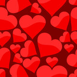 Teste padrão sem emenda com coração Imagem de Stock Royalty Free