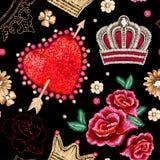 Teste padrão sem emenda com coração ilustração royalty free