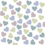 Teste padrão sem emenda com corações à moda Fotografia de Stock Royalty Free