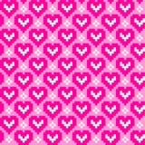 Teste padrão sem emenda com corações Foto de Stock Royalty Free