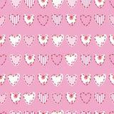 Teste padrão sem emenda com corações Imagens de Stock Royalty Free