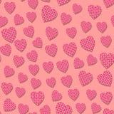 Teste padrão sem emenda com corações Imagens de Stock
