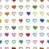 Teste padrão sem emenda com corações Fotos de Stock