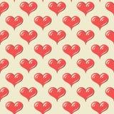 Teste padrão sem emenda com corações Foto de Stock