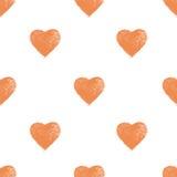 Teste padrão sem emenda com corações Fotografia de Stock Royalty Free