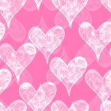 Teste padrão sem emenda com corações Imagem de Stock Royalty Free