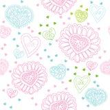 Teste padrão sem emenda com corações coloridos ilustração stock