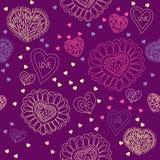 Teste padrão sem emenda com corações coloridos ilustração royalty free