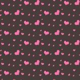 Teste padrão sem emenda com corações cor-de-rosa Foto de Stock Royalty Free