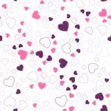 Teste padrão sem emenda com corações Corações cor-de-rosa Imagem de Stock Royalty Free
