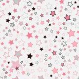 Teste padrão sem emenda com corações Corações cor-de-rosa Imagens de Stock Royalty Free