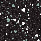 Teste padrão sem emenda com corações Corações cor-de-rosa Teste padrão romântico Fotografia de Stock Royalty Free