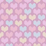 Teste padrão sem emenda com corações do mosaico ilustração do vetor