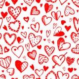 Teste padrão sem emenda com corações do Valentim ilustração do vetor