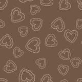 Teste padrão sem emenda com corações Vetor ilustração stock