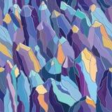 Teste padrão sem emenda com cristais e pedras Imagens de Stock Royalty Free