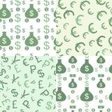 Teste padrão sem emenda com dinheiro Imagem de Stock