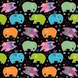 Teste padrão sem emenda com elefantes Imagens de Stock Royalty Free