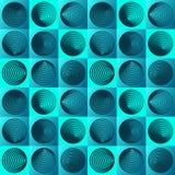 Teste padrão sem emenda com elementos do círculo ilustração stock