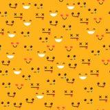 Teste padrão sem emenda com emoções Sorriso Fotos de Stock Royalty Free