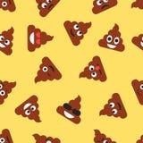 Teste padrão sem emenda com emojies do tombadilho Fundo dos Emoticons Textura Fotos de Stock Royalty Free